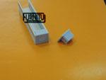 Алюминиевый светодиодный профиль  с торцевыми заглушками серого цвета