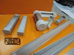 Набор алюминиевых светодиодных профилей с рассеевателем и заглушками