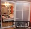 Белый радиусный шкаф в спальню Прямой зеркальный сегмент шкафа угловой радиусный сегмент наполнение матовый пластик