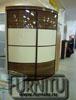 Глянцевый Радиусный шкаф купе наполнение пластик Дерево молоко