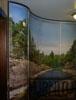 Индивидуальный проект Горная река, выпукло вогнутый радиусный шкаф купе с нашего профиля