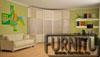 Кабинет оформлен в оливковом стиле со светлой мебелью. Радиусный шкаф вогнутый оформлен под цвет мебели.