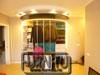 Начинка радиусного шкафа полки, штанги вешало с верхней андресолью и подсветкой