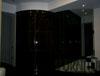 Проект Черная ночь, прямой шкаф купе переходящий в радиусный сегмент с двумя дверьми