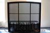 Радиусный выпуклый шкаф Венге- Серебро Цветочки радиус 1800
