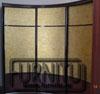 Вогнутый радиусный шкаф купе богатое золото