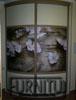 Радиусный шкаф в китайском стиле Ветка сакуры