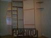 Радиусный шкаф вогнутый с внутренним наполнением (полки, ящики, штанга вешало для одежды), Наполнение дверей пластик нежно розового цвета