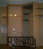 Радиусный шкаф вогнутый с двумя открытыми боковыми полками по двум сторонам шкафа