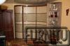 Радиусный шкаф купе в спальню мягкий коричневый выпукло вогнутый с открытым краем