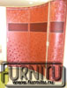 Радиусный шкаф купе Красный цветок(наполнение ламинированные обои на пластике)