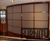 Радиусный шкаф радиусом 2500 для гостиной комнаты