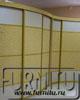 Сложный Выпукло вогнутый радиусный шкаф купе Золотая лепнина